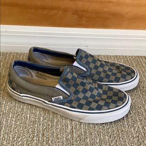 Men's Vans checkerboard slip on shoes size 9